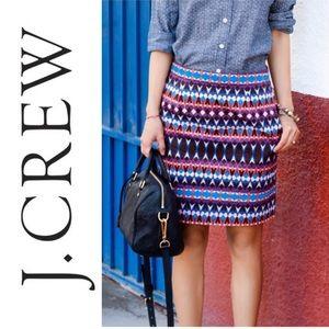 J. CREW Gemstone Print pocket Mini Skirt Size 10